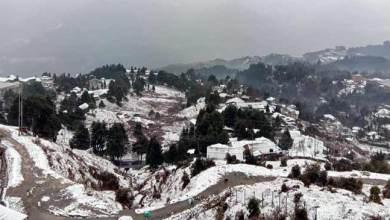 Arunachal: First snowfall of this season hits Tawang and Bomdila