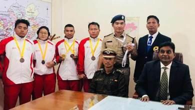 Photo of Arunachal Police sportsmen gets warm welcome