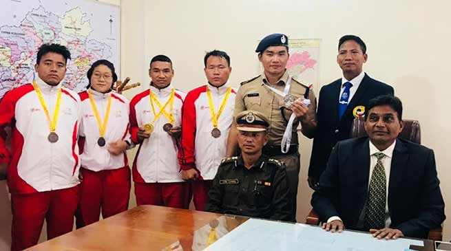 Arunachal Police sportsmen gets warm welcome