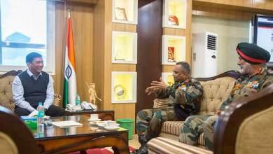 Itanagar: GOC 4 Corps, along with GOC designate 4 Corps, met CM