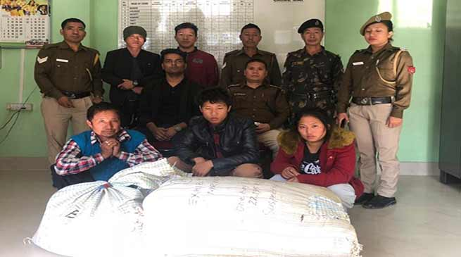 Itanagar: police arrested 2 man, 1 woman, with 30 Kgs cannabis