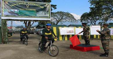 Arunachal: Army cycle expedition team culminates at Tezu