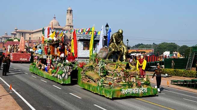 Arunachal Pradesh Tableau participates in R-Day Tableaux Parade 2019 at Rajpath