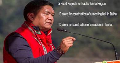 Arunachal: Five road projects has been launched in Nacho-TALIHA region- Khandu