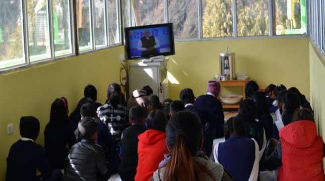 "Arunachal: Teacher, Students in Tawang watched PM Modi's ""PARIKSHA PE CHARCHA"""