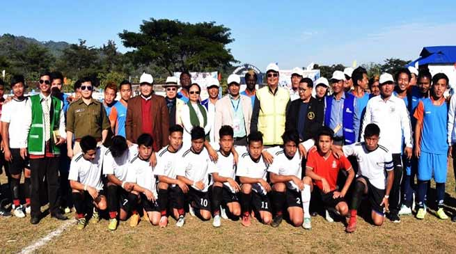 Arunachal: Mein inaugurates the first edition of Tako Dabi Memorial Football Tournament 2019