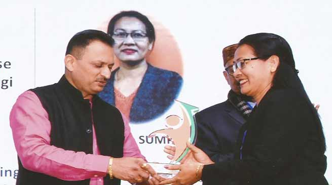 Itanagar: Tana Sumpa gets National Entrepreneurship Awards 2018