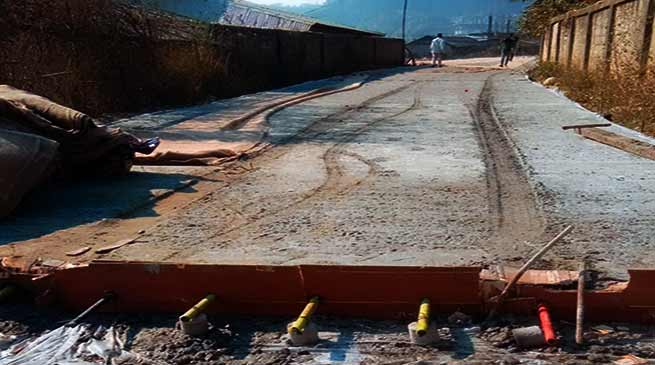Arunachal: Antisocial groups destroyed newly laid CC road