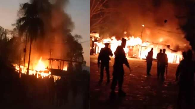 Arunachal: One person dies, 6 shops gutted in a fire mishap at Deomali
