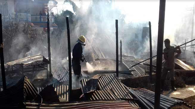 Arunachal: Two OBT, Two SPT houses gutted in fire mishap at Papu village