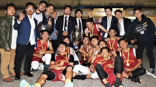 Arunachal: Papum Pare team wins the 1st State level Basketball Tournament