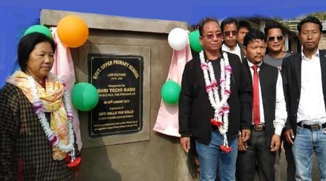 Itanagar: Techi Kaso inaugurates upper primary School at Lor Potung