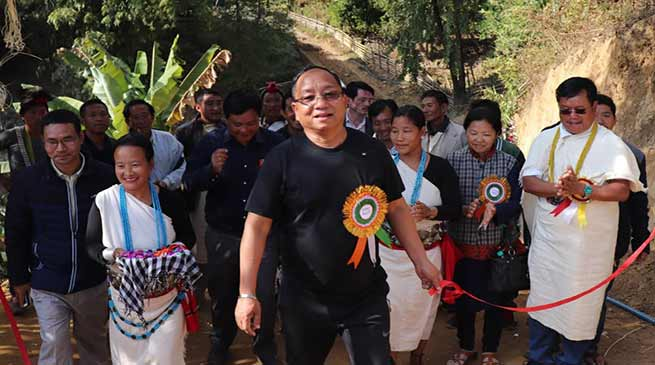 Itanagar: Kaso inaugurates Primary School at Dotung Namchang