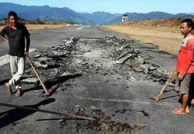 Arunachal: IAF starts repairing work of Vijaynagar ALG