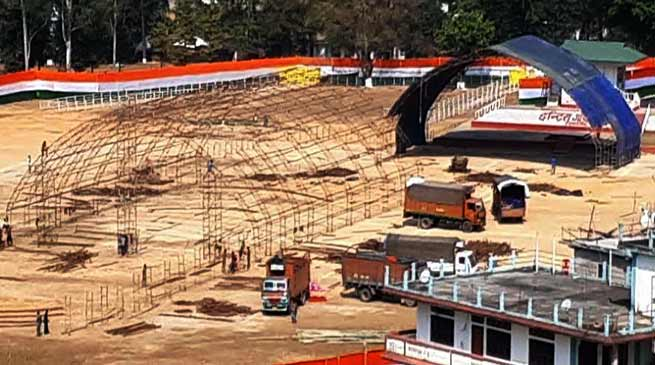Itanagar : PM Modi to lay foundation stone for Greenfield Airport