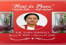 Several organisation mourns demise of Dr Taba Nirmali