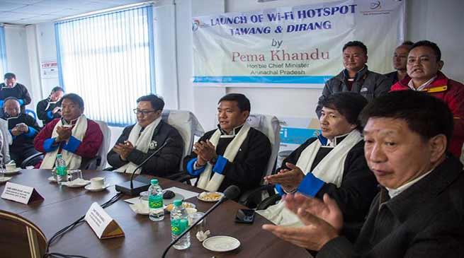 Arunachal: Khandu launches WiFihotspost for Tawang and Dirang