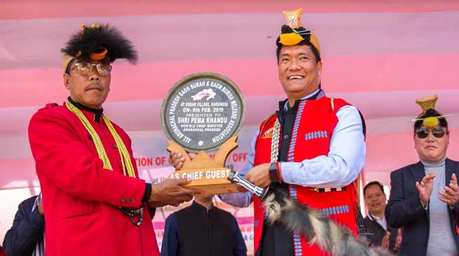 Arunachal: Khandu announces hike in monthly honorarium of Gaon Burahs