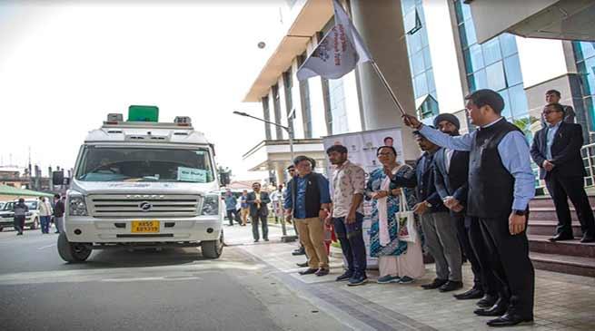 Itanagar: Khandu flags off Arunachal leg of the Startup India Yatra