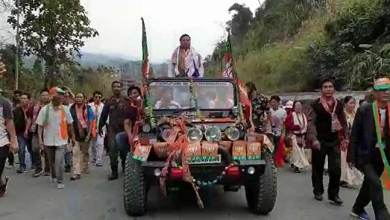 Photo of Arunachal election mood:  Kumsi Sidisaw gets warm welcome at Bhalukpong