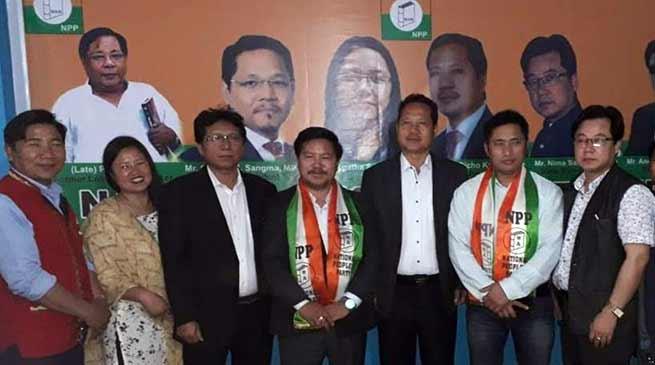 Arunachal:Pani Taram, Paknga Wage and Thangwang Wangham join NPP