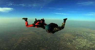 First ever Skydiving jump by Battle Casualty Veteran held in Nasik