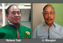 Nabam Tuki will contest in both Lok and Vidhan sabha seat while Wanglat from Arunachal East
