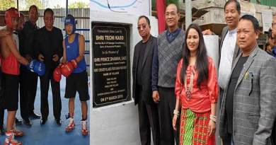 Itanagar: Three village and a Boxing ring inaugurated at Ganga panchayat