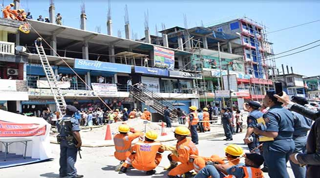 Arunachal: mock drill on earthquake disaster was organised in Nirjuli
