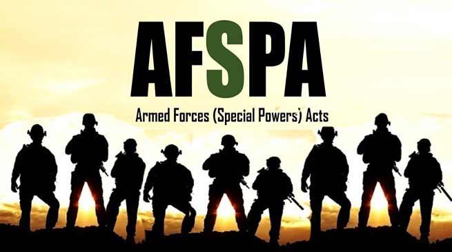 AFSPA withdrawn partially from Arunachal Pradesh