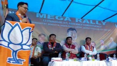 Photo of Arunachal: Khandu, Rijiju address BJP mass rally to garner support for BJP