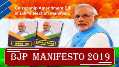 Photo of Citizenship Amendment Bill in BJP's election manifesto