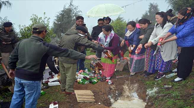 Arunachal: Tawang Admin destroy IMFL seized during Elections