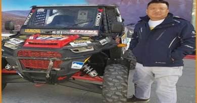 Lahkpa Tsering lead Team Arunachal in Desert Storm Rally