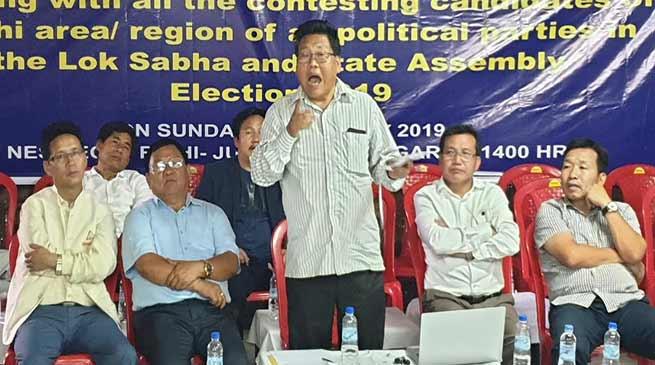 Arunachal: Maintain peace in Nyishi-inhabited areas- NES