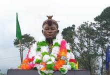 Itanagar: Statue of Risso Tari unveiled near Tennis court