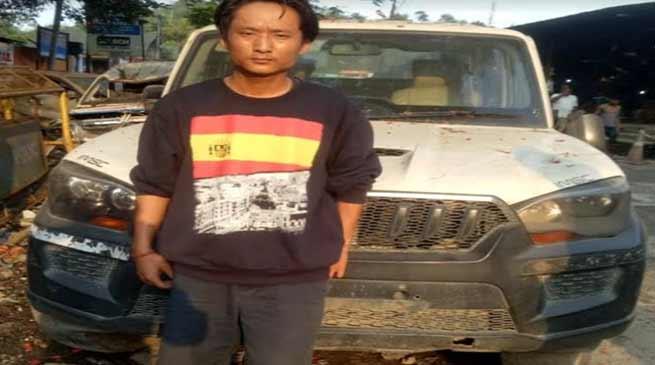 Itanagar- Capital police recovered robbed scorpio, arrested auto thieve