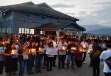 Itanagar: Candle light march at RGU for Lt Tirong Aboh