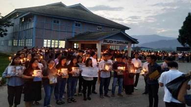 Photo of Itanagar: Candle light march at RGU for Lt Tirong Aboh
