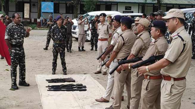 Arunachal: Training on handling of anti riot weapon concludes