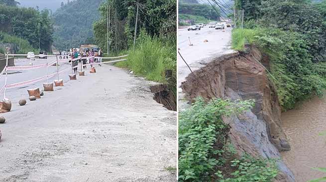 Arunachal: Heavy rain triggered landslide on Itanagar-Naharlaugn NH-415