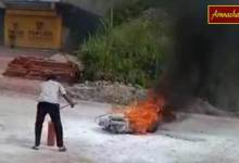 Photo of Arunachal: A scooty caught fire and went into flames within seconds
