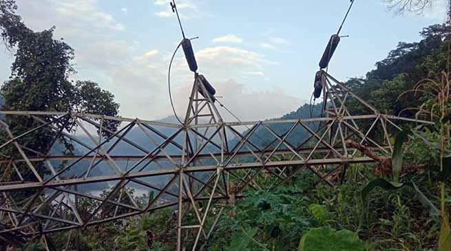Arunachal: Three districts plunge in complete blackout after Collapse of 132KV Tower