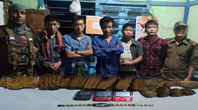 Arunachal: Changlang police apprehended 4 NSCN (K-YA) members of Burmese nationality