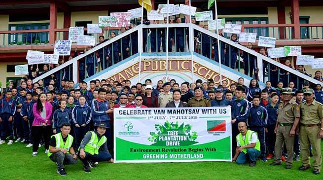 Tawang: 200 saplings planted on the second day of Van Mahotsav