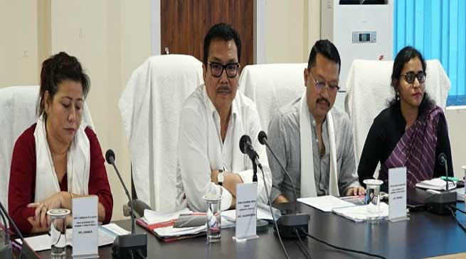 Arunachal: Mein chairs joint meeting of DPB & DLC