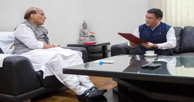 Khandu calls on Defence Minister Rajnath Singh