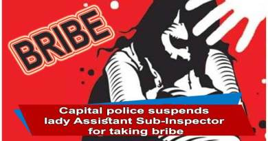 Itanagar:Capital police suspends lady Assistant Sub-Inspector for taking bribe