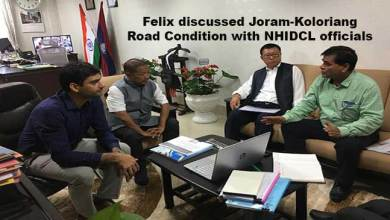 Arunachal: Felix discusses Joram-Koloriang Road Condition with NHIDCL officials