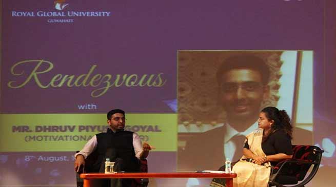 Assam: Harvard returned Dhruv Piyush Goyal visits Royal Global University
